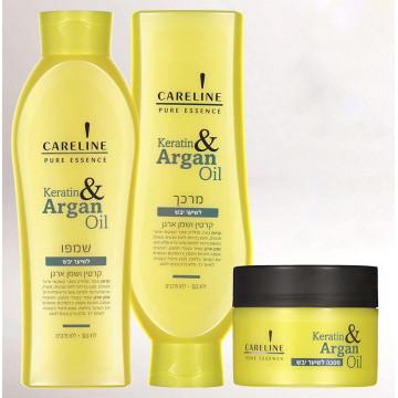 Набор Восстанавливающий для сухих волос Кератин и Аргановое масло
