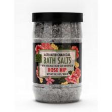Соль Мертвого моря с активированным углем и экстрактом шиповника