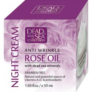 Ночной крем против морщин с маслом розы и минералами Мертвого моря