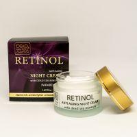 Ночной крем против старения с ретинолом и минералами Мертвого моря