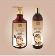 Шампунь с кератином для волос после термического воздействия (400мл)