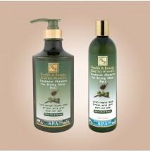 Шампунь для волос с добавлением оливкового масла и меда (400мл)